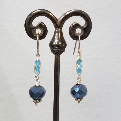 Apatite and blue earrings
