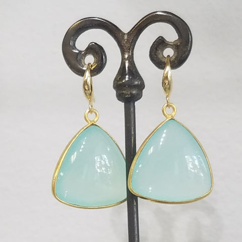 Triangular Chalcedoney earrings