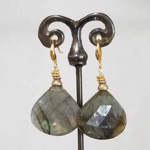Labradorite rainbow earrings