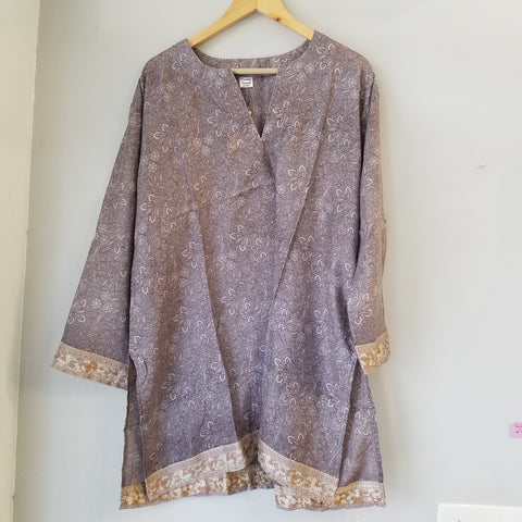 Purple silk tunic