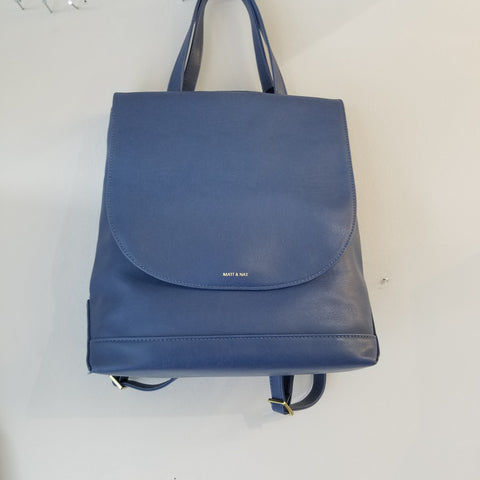 Vegan blue backpack/shoulder bag