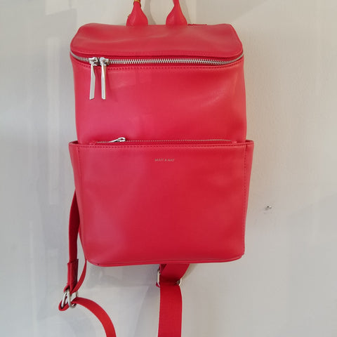 Vegan red backpack/handbag