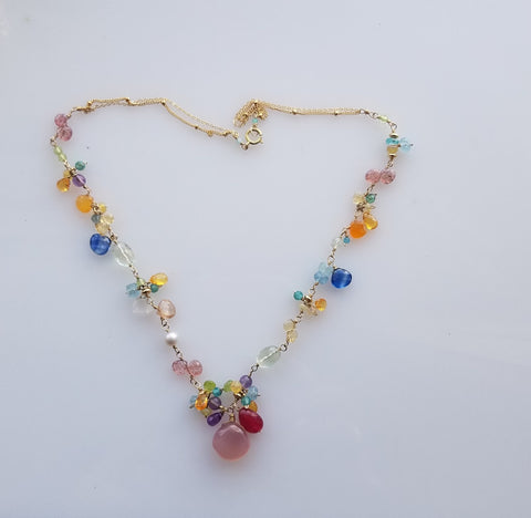 Gem party necklace