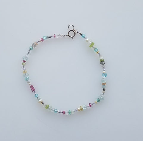Moonstone and tourmaline bracelet