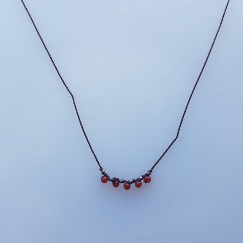 Dainty Carnilian necklace
