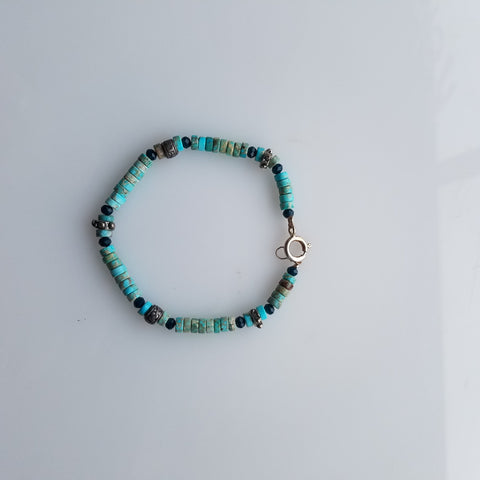 Turquoise and blue bracelet