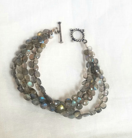 Three strands Labradorite Bracelet