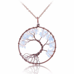 Natural Stone Tree Of Life Pendant (10 styles)