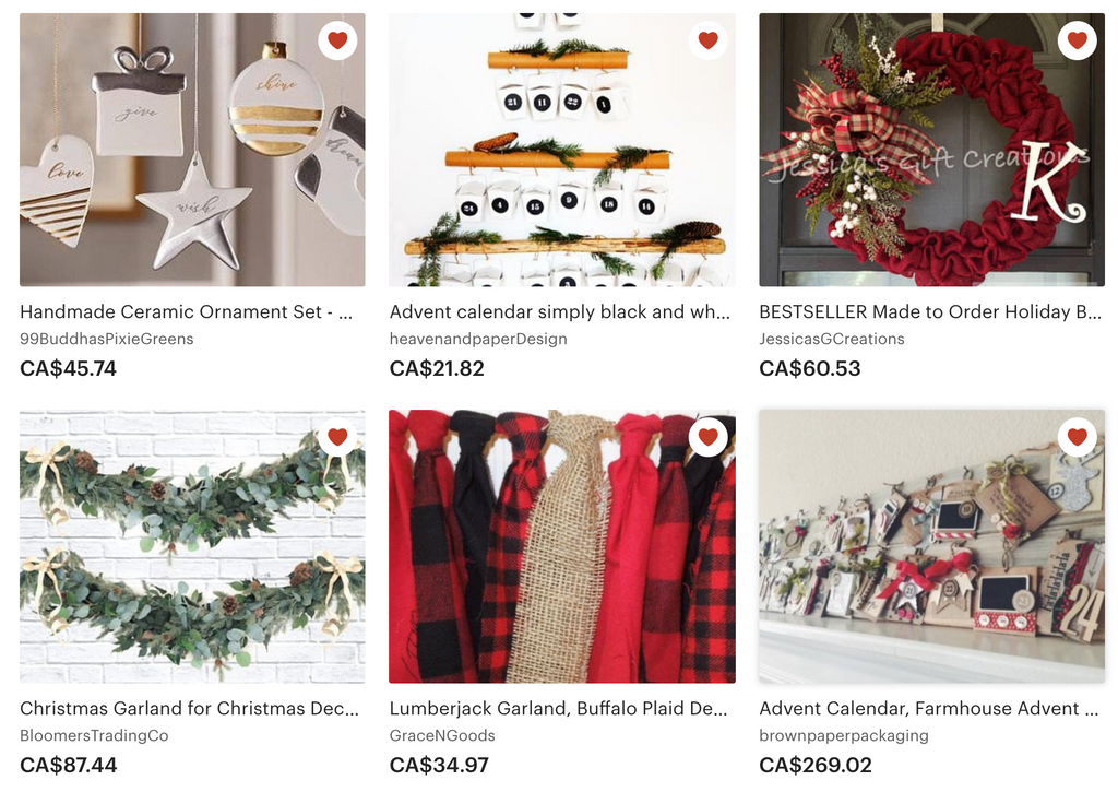 25 of my favourite Christmas things on Etsy