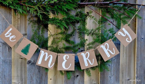 Be Merry Rustic Banner