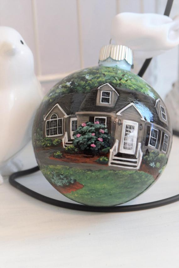 Custom hand painted Christmas Ornament