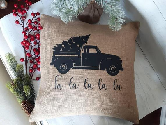 Rustic Christmas Accent Pillow