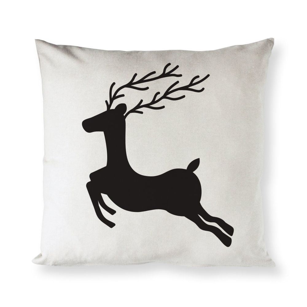 Reindeer Christmas Holiday Pillow Cover