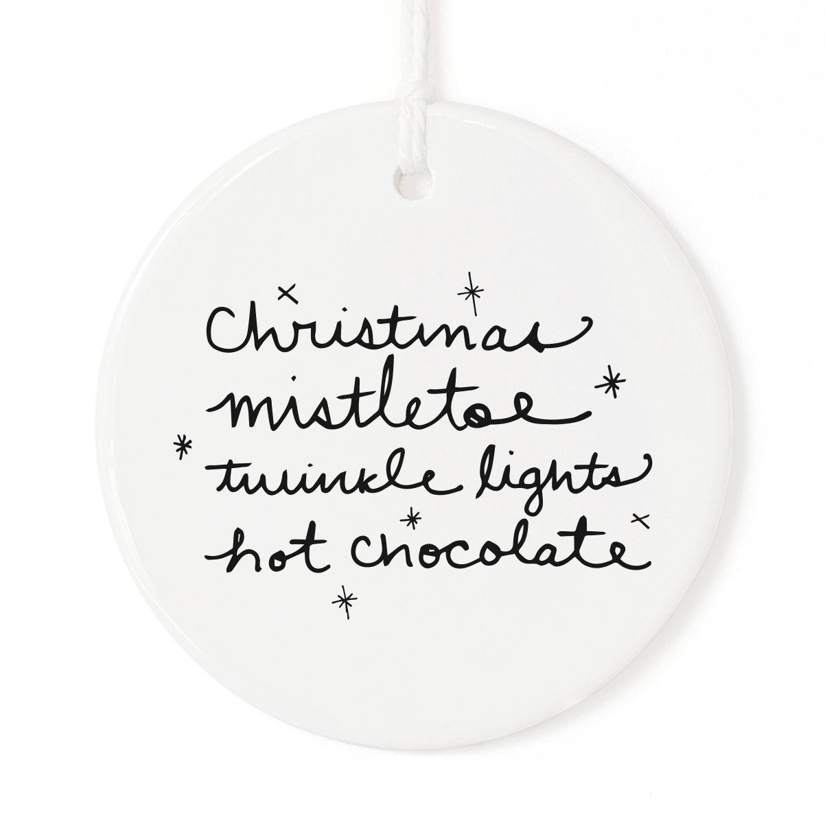 Christmas Favorites List Christmas Ornament