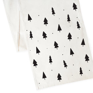 Christmas Tree Cotton Canvas Table Runner