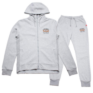 COVERED BY GOD ATHLETIC SUIT- GREY
