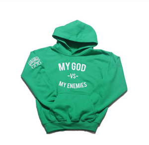 "MGVME ""GREEN WITH ENVY"" YOUTH HOODIE"