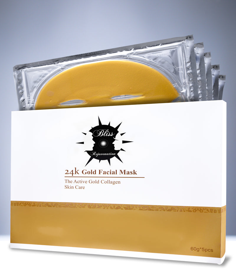24K Nano Gold Facial Masks - 5 Masks