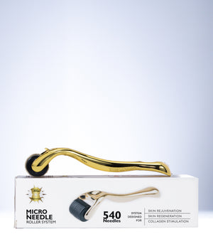 Limited Edition 0.5/1.0 mm  Micro Needle Derma Roller in Gold