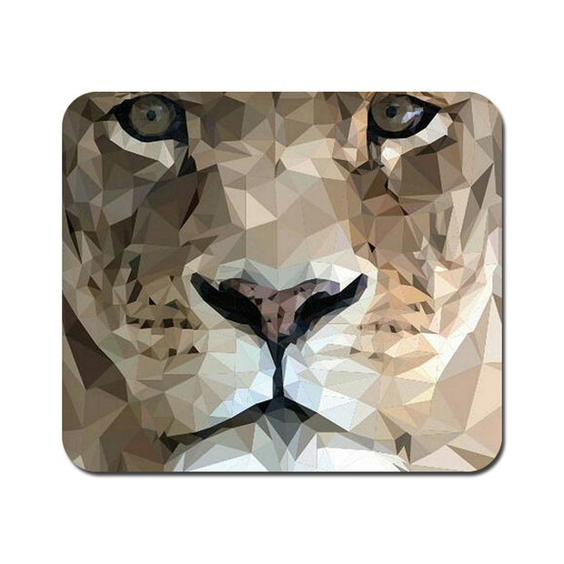 Large Abstract Lion Mousepad