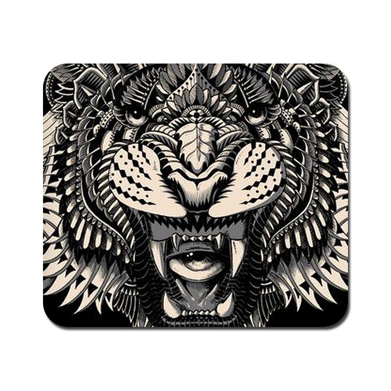 Large Abstract Tiger Mousepad