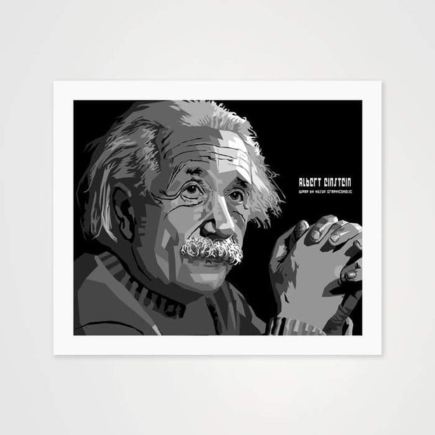 Albert Einstein - High Quality Public Figure Art For Your Wall-Art Prints-GetArt