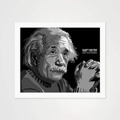 Albert Einstein - High Quality Public Figure Art For Your Wall