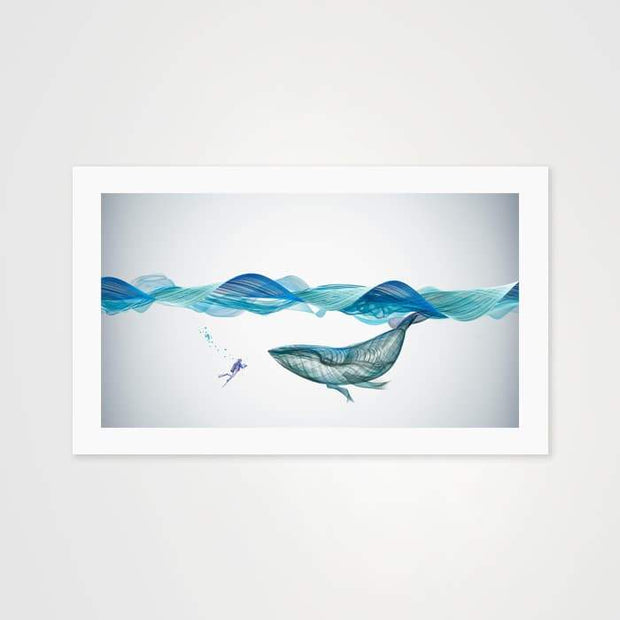 The Loneliest Whale- High Quality Fantasy Art For Your Wall-Art Prints-GetArt