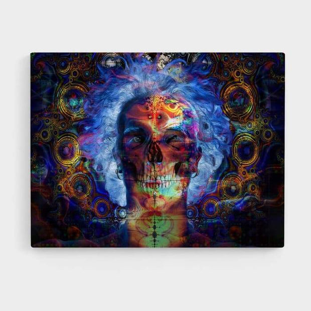 Inner Demons- High Quality Psychedelic High Quality Stretched Canvas For Your Wall