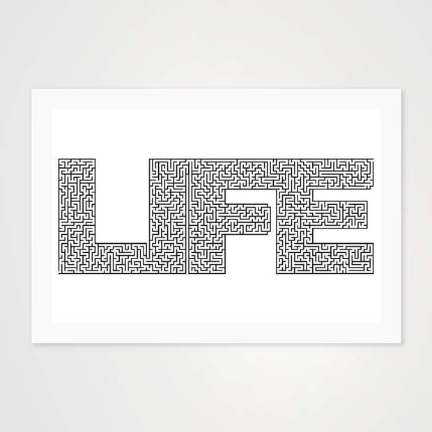 Life is Maze Quote - High Quality Art Print For Your Wall-Art Prints-GetArt