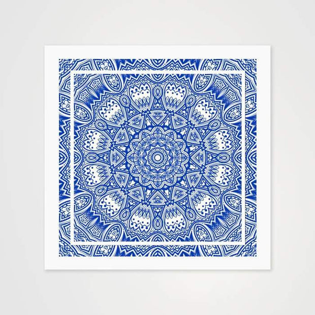 Blue & White Mandala - High Quality Art Pattern For Your Wall-Art Prints-GetArt