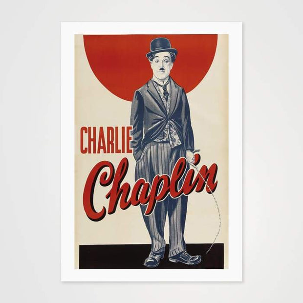Charlie Chaplin - High Quality Movie Vintage Poster Art For Your Wall-Art Prints-GetArt