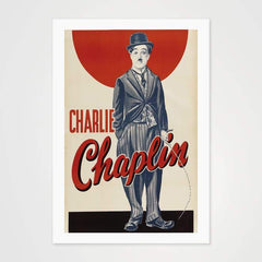 Charlie Chaplin - High Quality Movie Vintage Poster Art For Your Wall