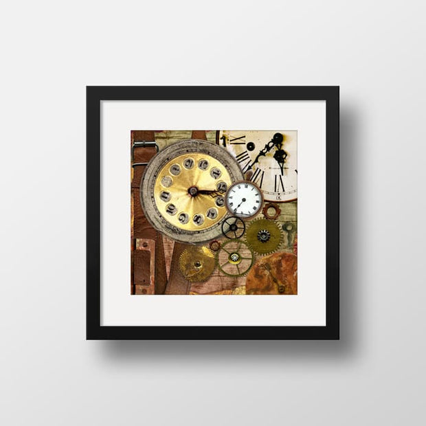 The Time Collage - High Quality Framed Mounted Art Print For Your Wall