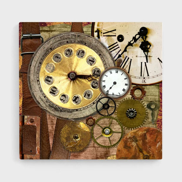The Time Collage - High Quality High Quality Stretched Canvas For Your Wall