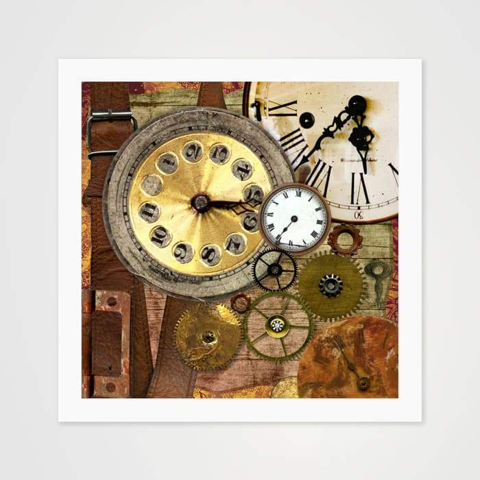 The Time Collage - High Quality Art Print For Your Wall