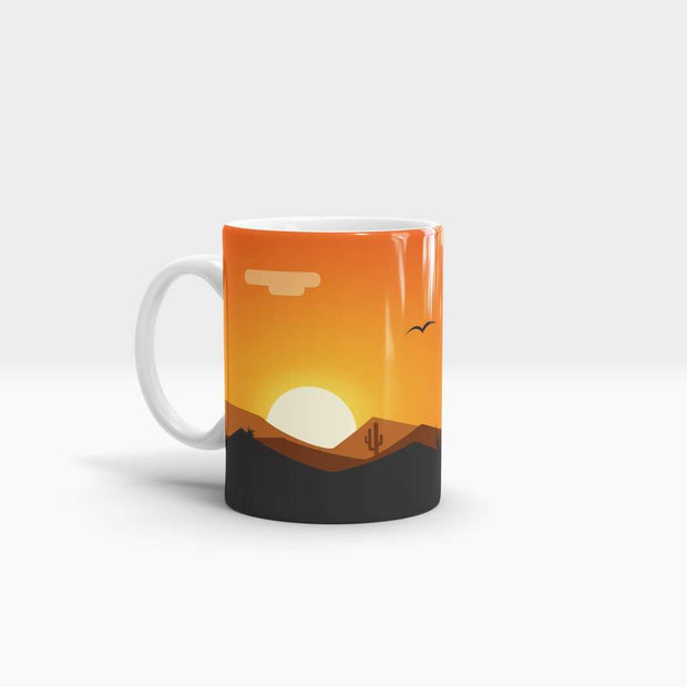 The Orange Sun - High Quality Art Coffee Mug-Coffee Mug-GetArt