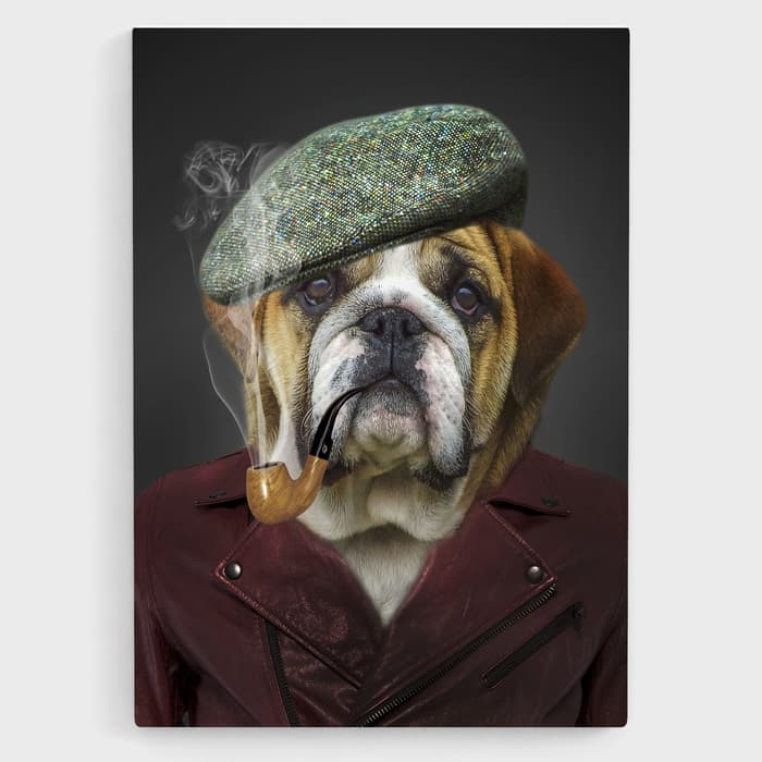 Dapper Dog - Nature Inspired High Quality Stretched Canvas For Your Wall