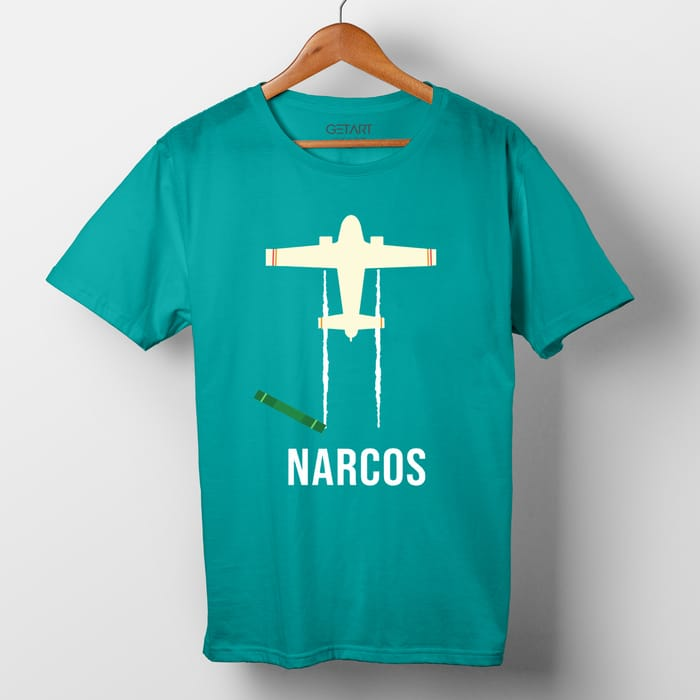 Narcos TV Series Half Sleeve Round Neck Printed T shirt