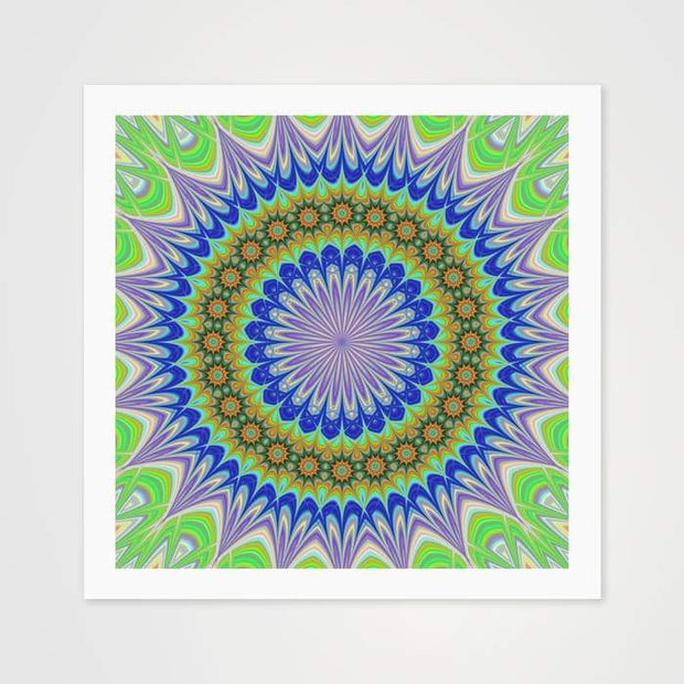 Fluorescent Mandala - High Quality Art Pattern For Your Wall-Art Prints-GetArt