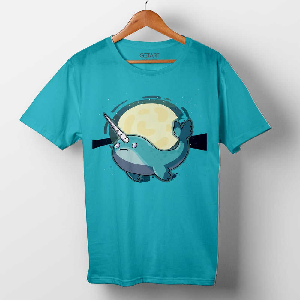 Cute Narwhal- Ocean Unicorn Half Sleeve Round Neck Printed T shirt