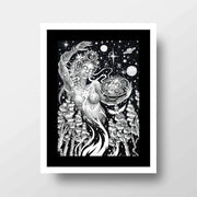 Coming From Life- High Quality Psychedelic Framed Mounted Art Print For Your Wall