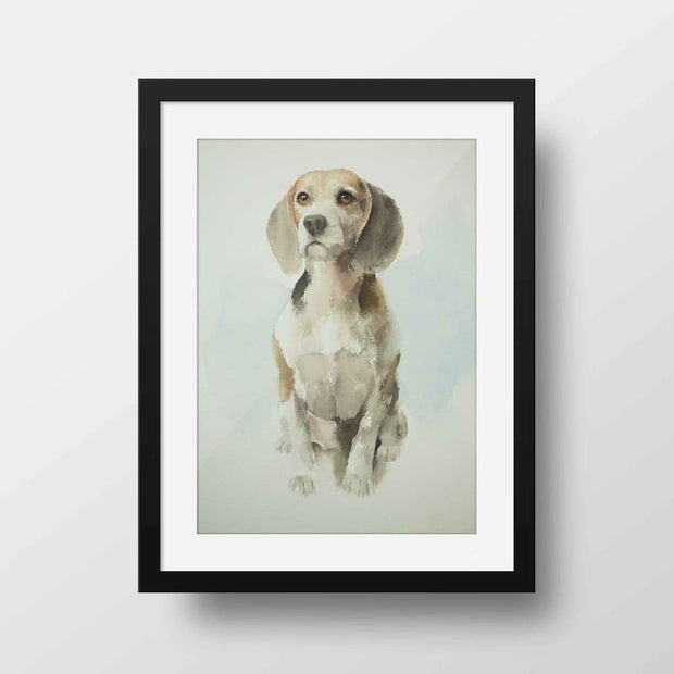 Beagle - Nature Inspired Framed Mounted Art Print For Your Wall