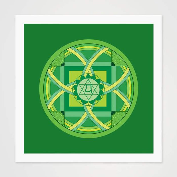 The Green Mantra Mandala - High Quality Art Pattern For Your Wall-Art Prints-GetArt