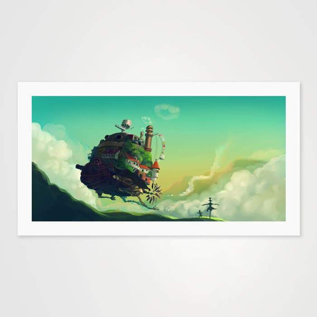 Howl's Moving Castle Fan Art- High Quality Fantasy Art For Your Wall-Art Prints-GetArt