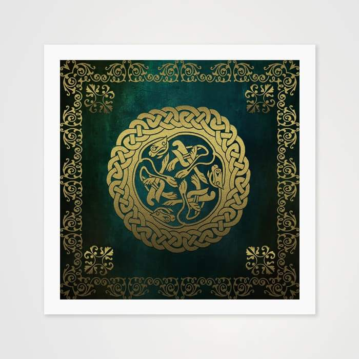 Green Velvet Circle - High Quality Art Pattern For Your Wall