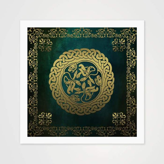 Green Velvet Circle - High Quality Art Pattern For Your Wall-Art Prints-GetArt