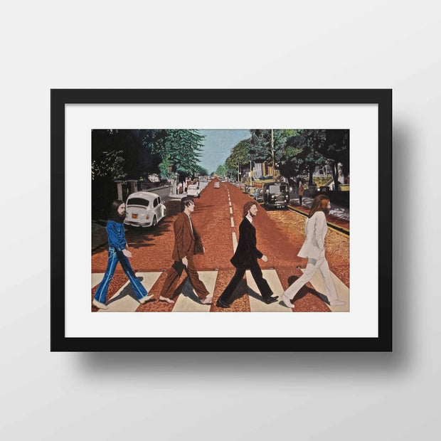 The Abbey Road Symbolism - High Quality Beatles Framed Mounted Art For Your Wall