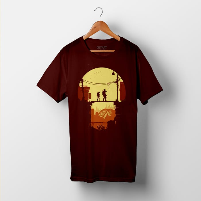 The Last Of Us Video Game Art Half Sleeve Round Neck Printed T shirt