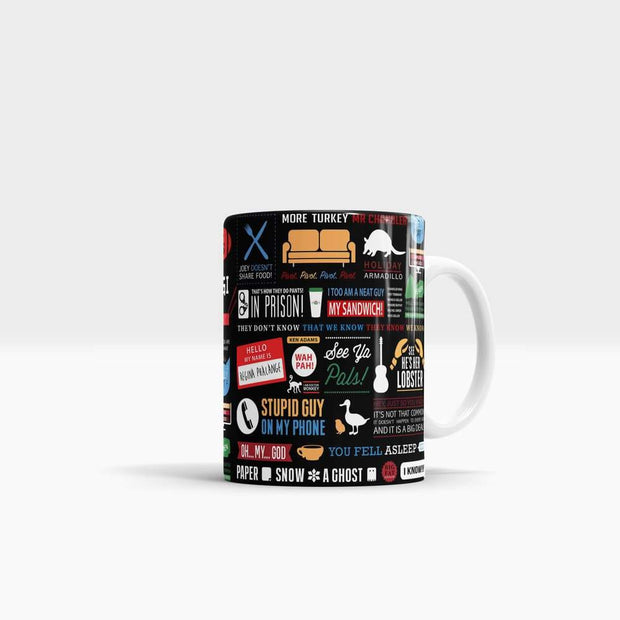 Friends Infographic - High Quality Friends Pop Art Coffee Mug-Coffee Mug-GetArt